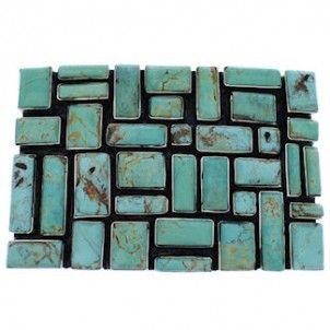 Turquoise Southwestern Genuine Sterling Silver Belt Buckle EX30171-0