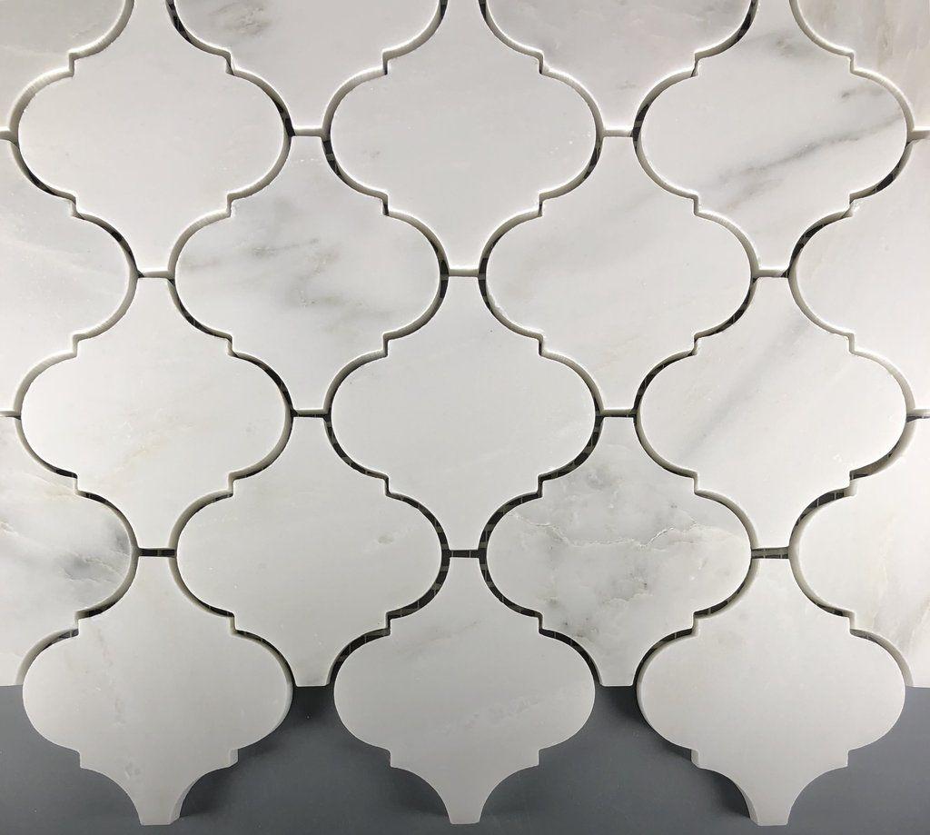 "- Arabesque 3"" Lanterns Mosaic Marble Tile Kitchen Backsplash"