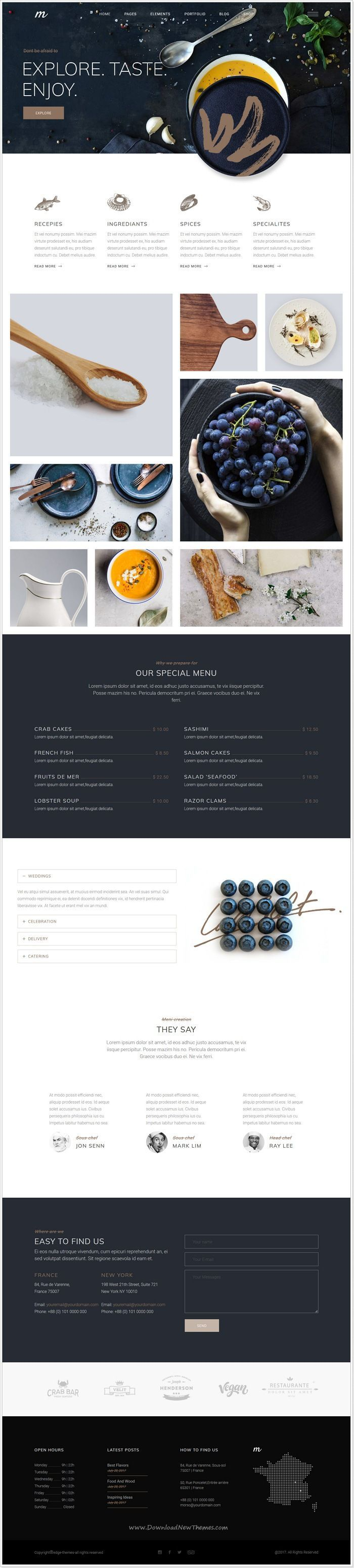 Morsel is clean and modern design responsive #WordPress theme for ...