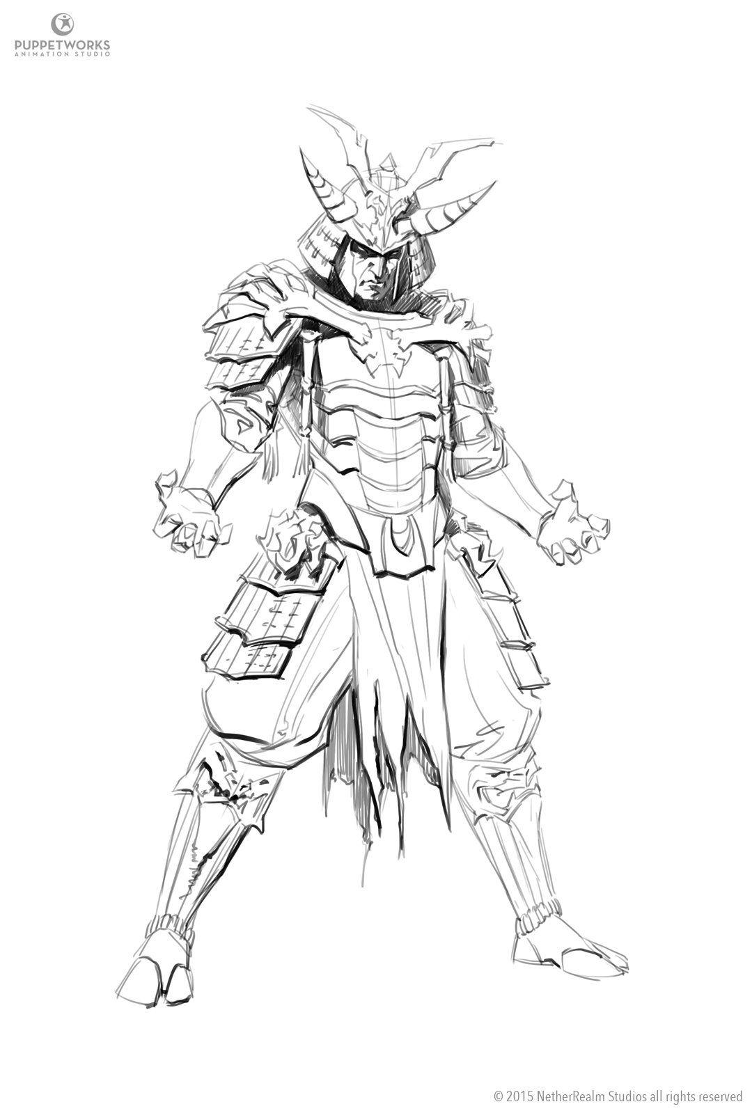 Artstation Samurai Shinnok Aron Elekes Com Imagens Samurai