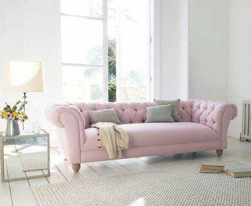 Soft Pink And Grey Tufted Chesterfield Sofa Furniture In 2019