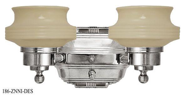 Art Deco Streamline Modern Double Sconce (186-ZNNI-DES)