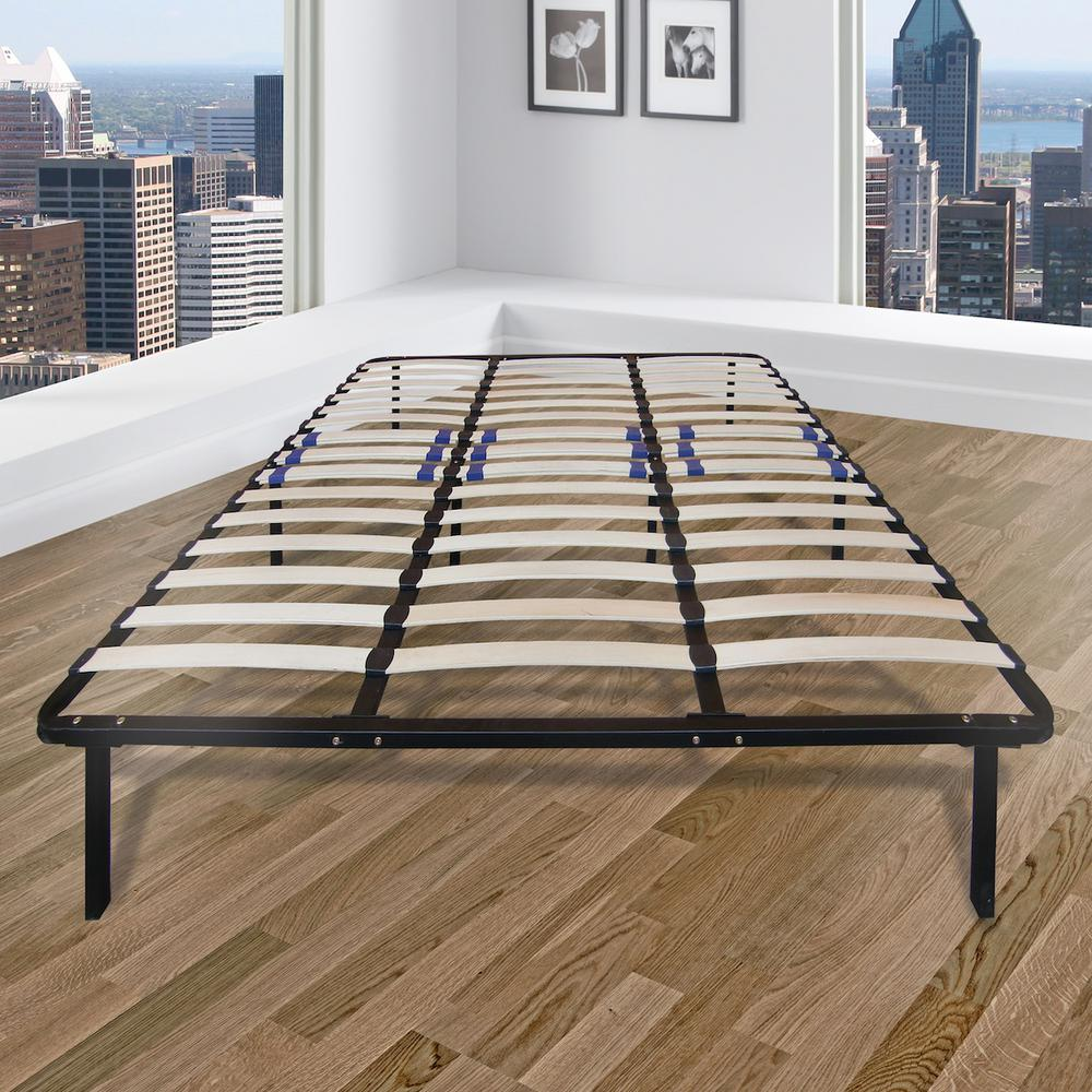 Rest Rite Full Metal And Wood Bed Frame Mfprrwspfdb Bed Frame