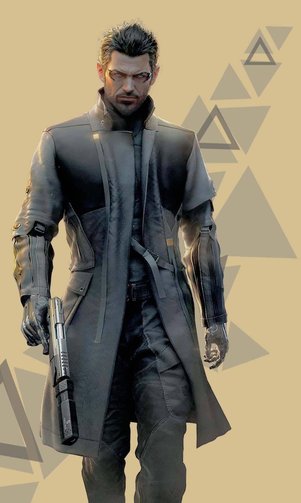 Deus Ex Mankind Divided Adam Jensen Phone Wallpapers Lockscreens ノ ヮ ノ ゚ ゚ Click On The Images For Fu Cyberpunk Character Deus Ex Mankind Cyberpunk