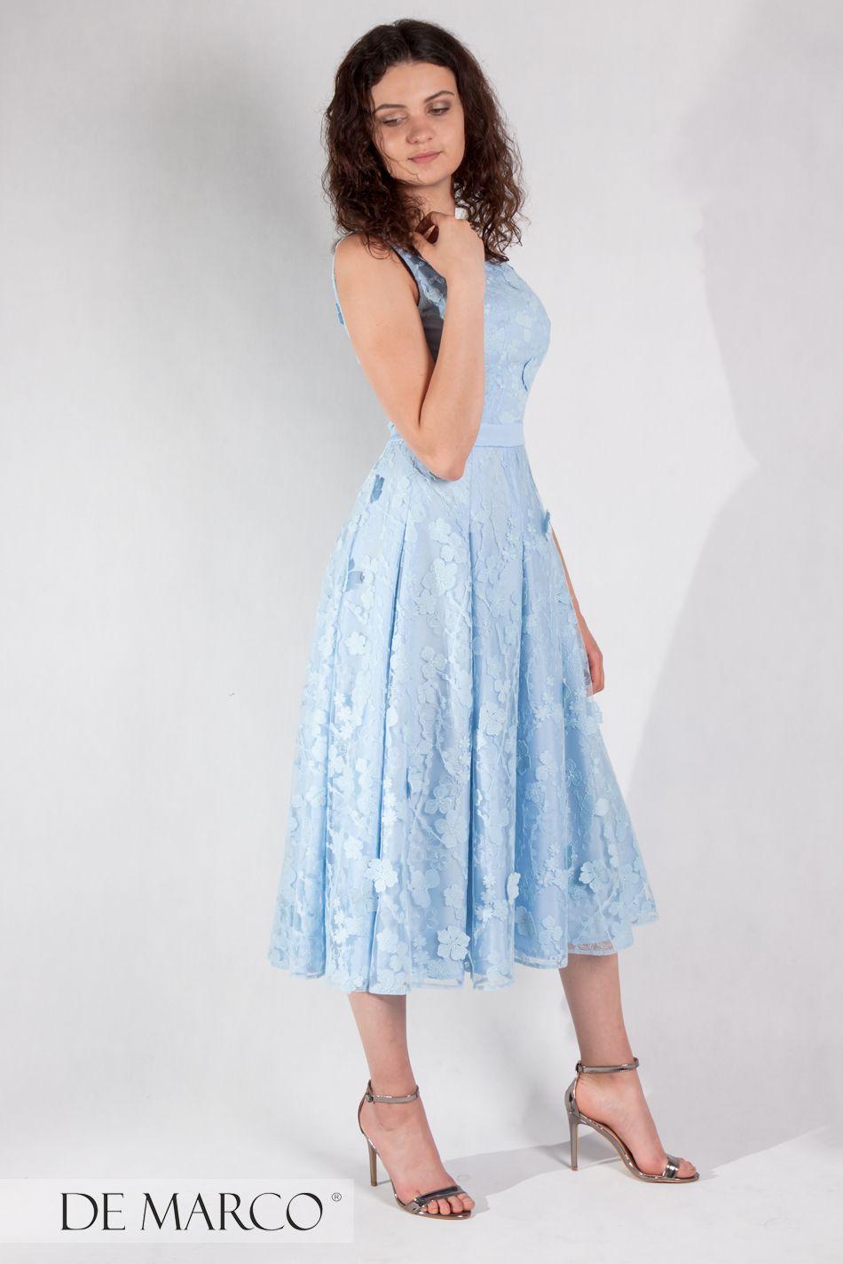 43c9ade78e Midi Dress Sukienka Na Wesele Rocznice Chrzciny