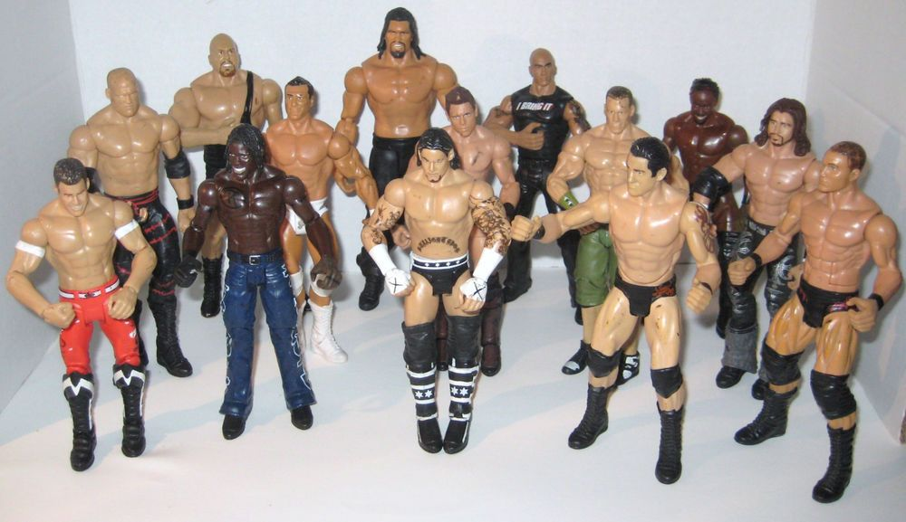 14 WWE 2010 Wrestlers Cena Undertaker CM Punk R - Truth Cane Morrison Big Show #WWE