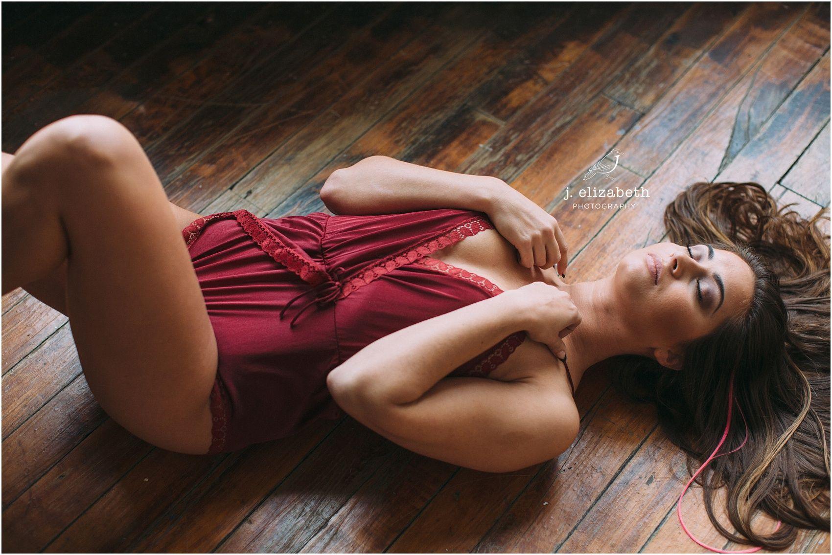 #boudoir #boudoirposes #boudoirideas #lingerie #sexy #confident #woodfloors #studio #redsatin #jelizabethphotography   http://www.jelizabethphotos.com/