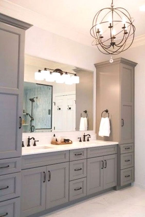 30+ Impressive Master Bathroom Remodel : Before & After Renovation #remodelingorroomdesign
