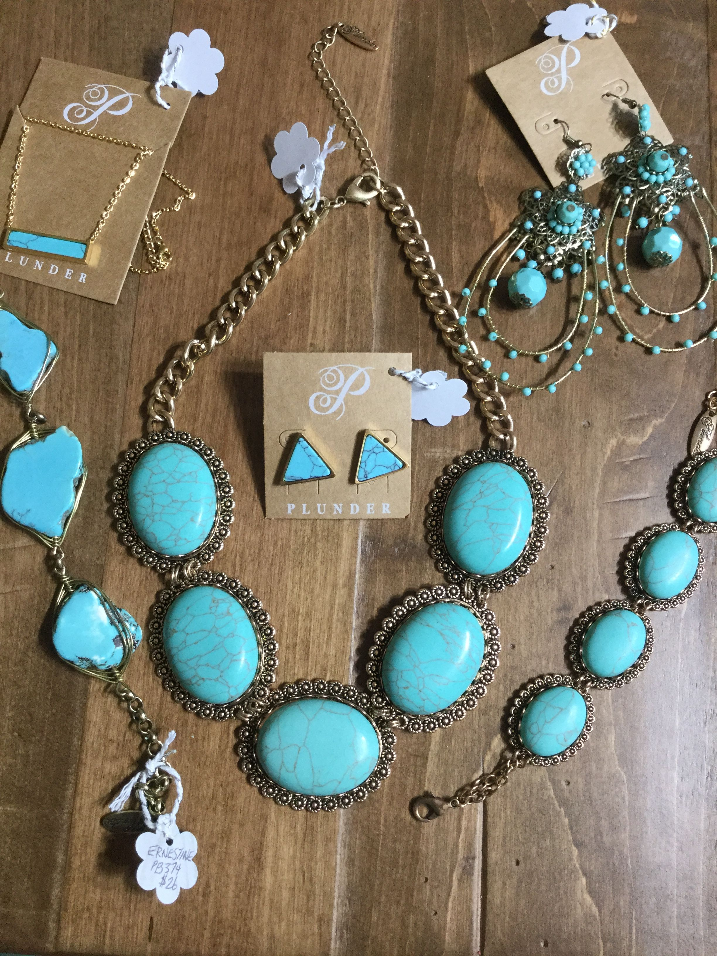 b7f31cdde Plunder has you covered in beautiful turquoise color gems ...