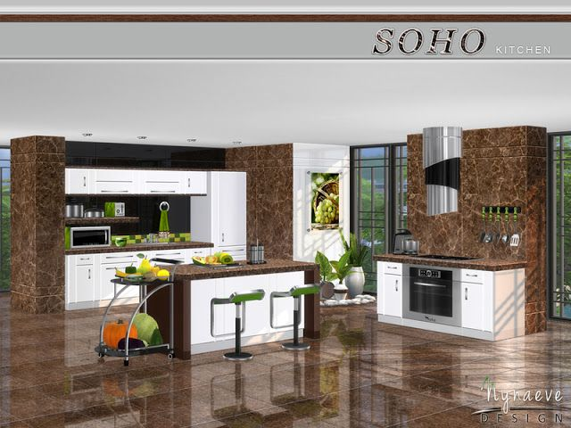 Sims 4 CC\'s - The Best: Soho Kitchen by NynaeveDesign | The Sims 4 ...