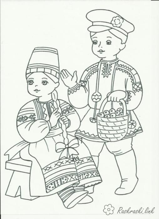 coloring national costumes peoples of russia costumes russia russian folk clothes coloring pages free