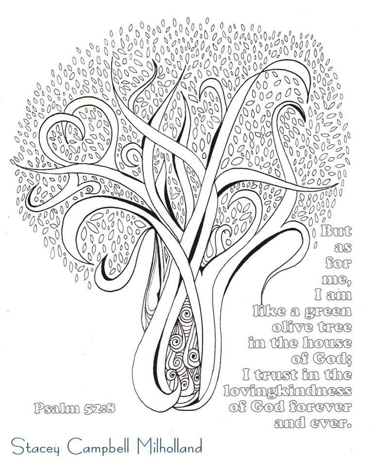 Olive Tree Bible Coloring Pages