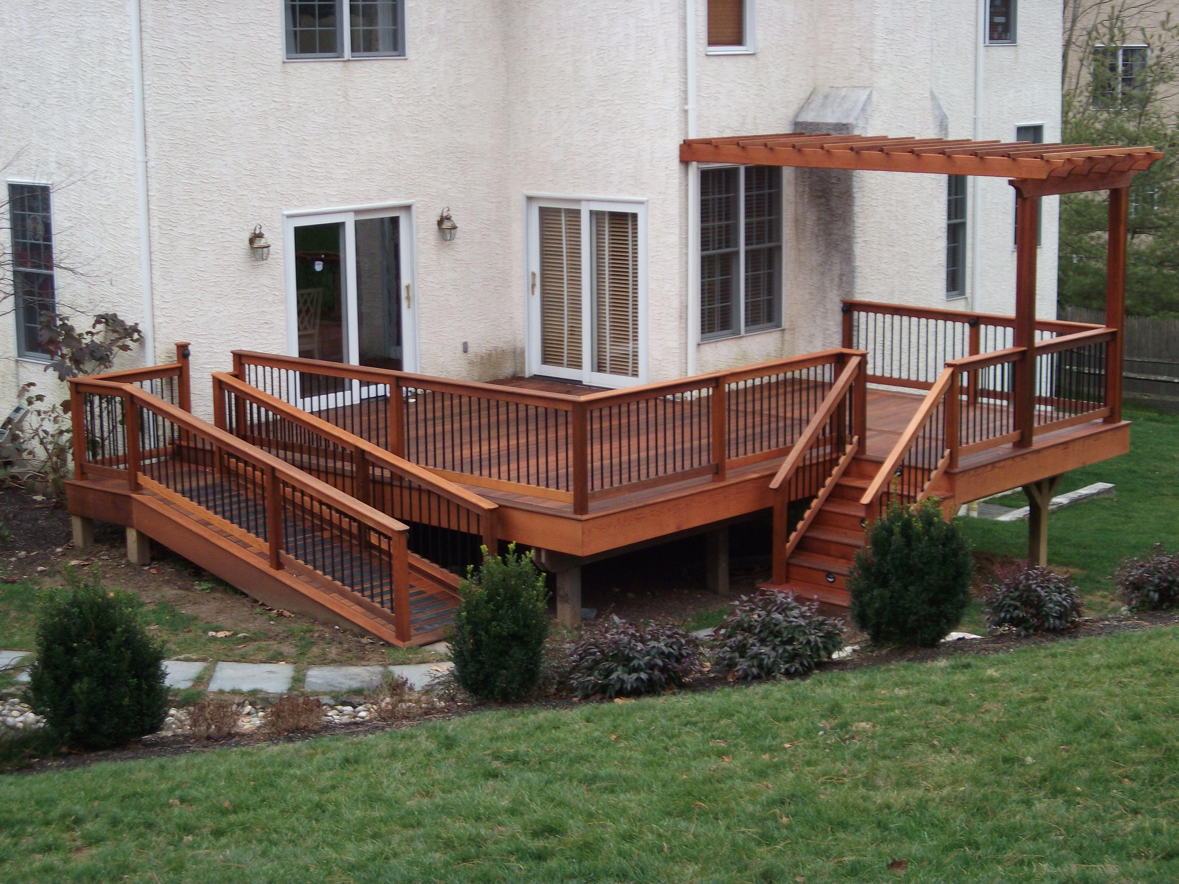 Decks with ramp design bing in 2020 deck designs
