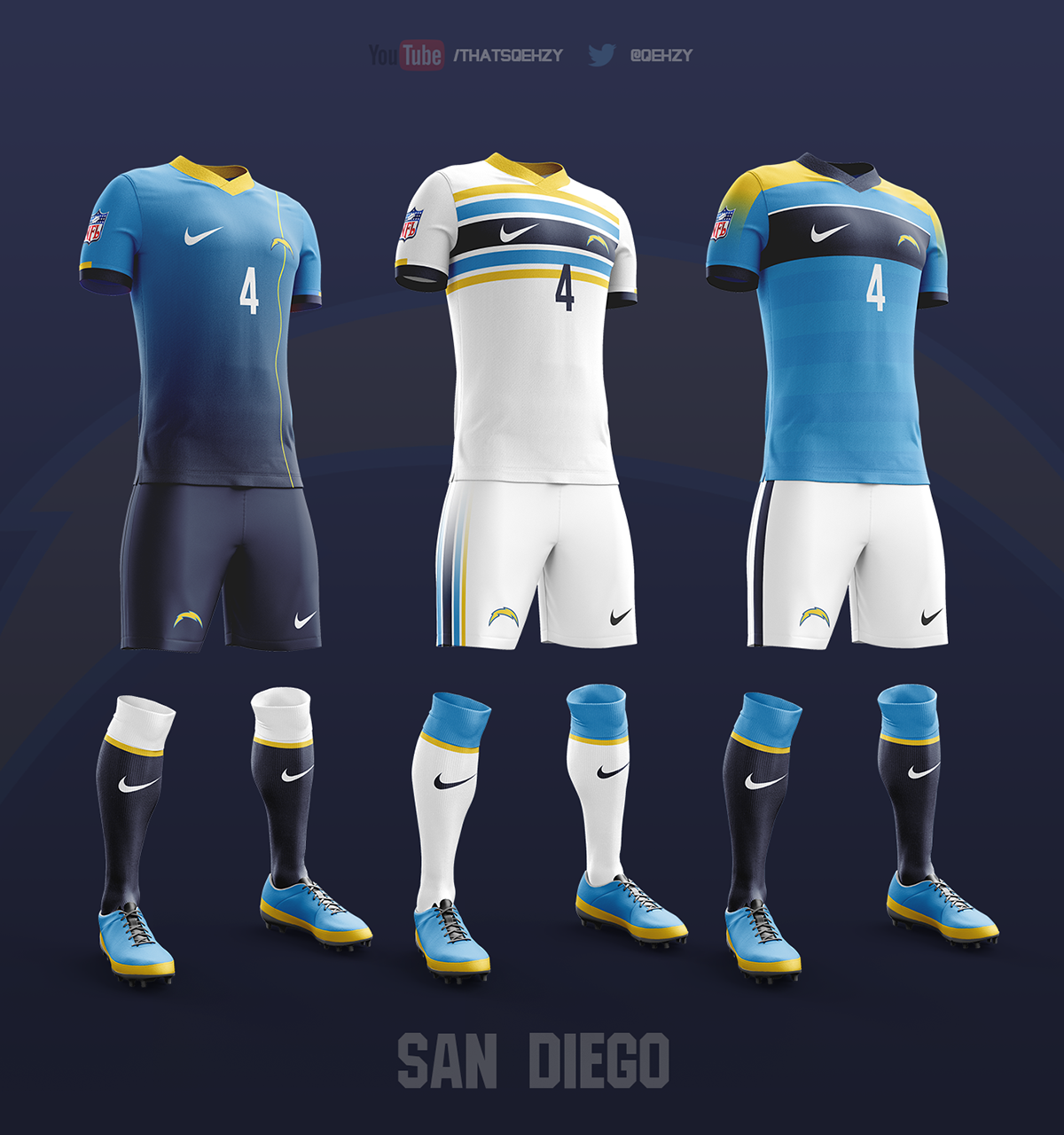 NFL Soccer Kits on Behance  Soccer  Football, Soccer kits, Soccer uniforms