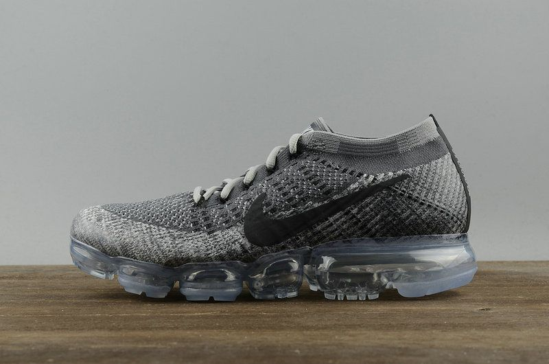 1d04555778a nouvelle arrivee Nike Air Vapormax Flyknit Grey Black Noir 849558 002 Youth  Big Boys Shoes