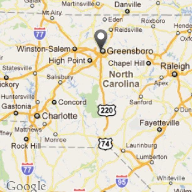 Greensboro North Carolina Map Greensboro, NC   Greensboro, North Carolina | Google images Found