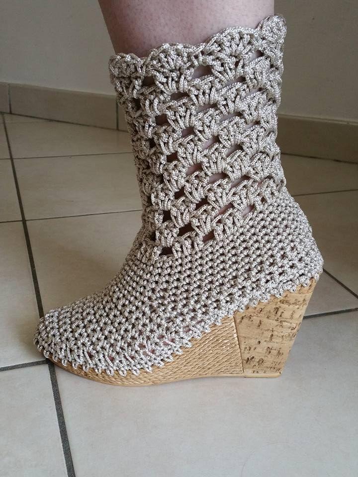 Pin von Shanda Holmes auf crochet | Pinterest | Schuhe