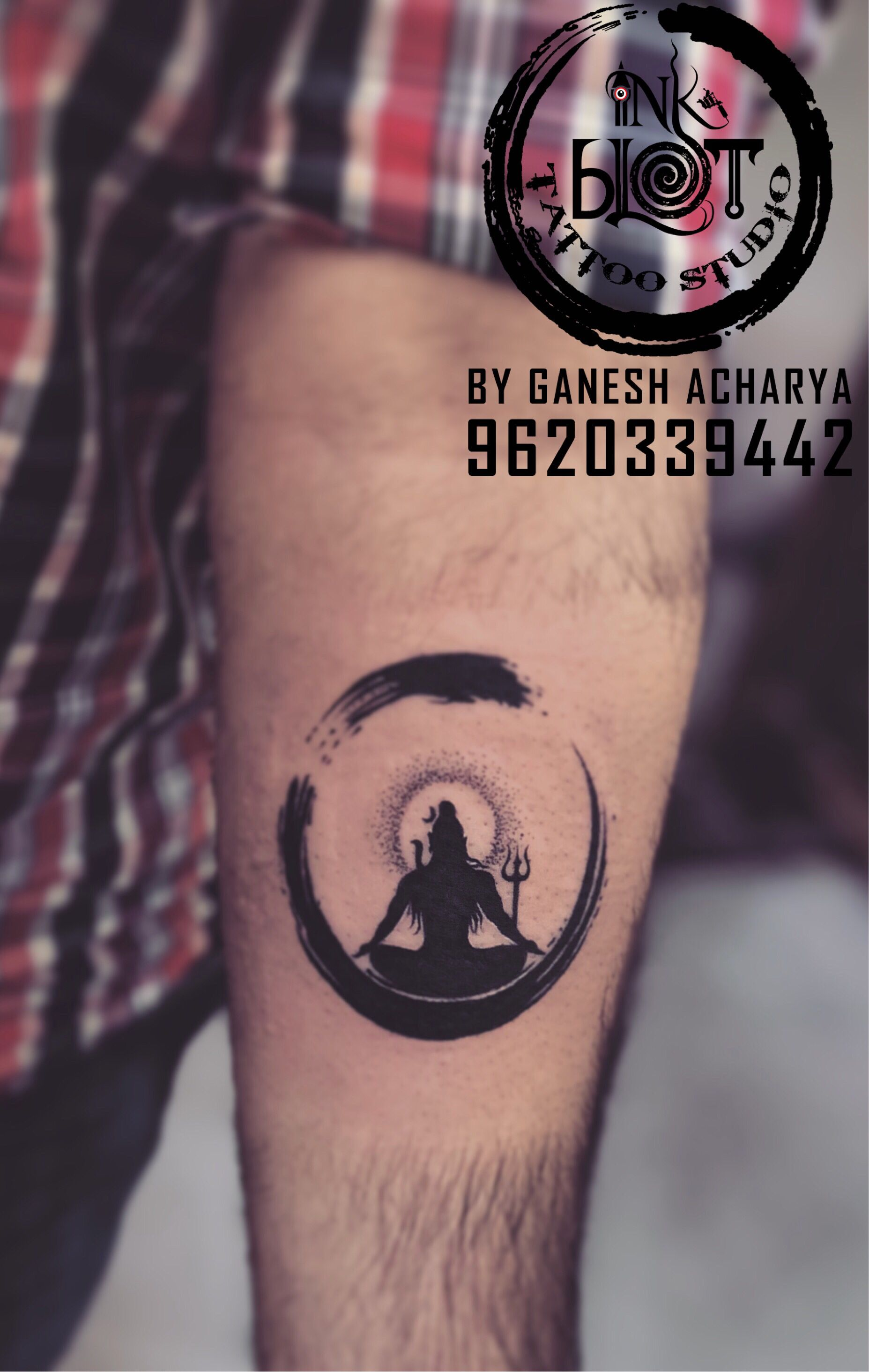 Shiva With Zen Circle Tattoo By Inkblot Tattoo Studio Jayanagar Shiva Tattoo Design Shiva Tattoo Trishul Tattoo Designs