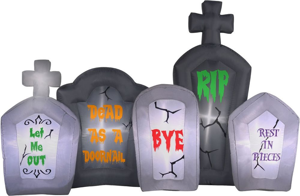 6\u0027 Halloween Inflatable Flashing Tombstone #halloween #inflatable - halloween inflatable decorations