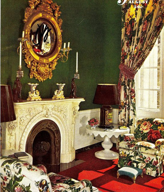 House Beautiful Cover August 1948 Vintage Interior Design