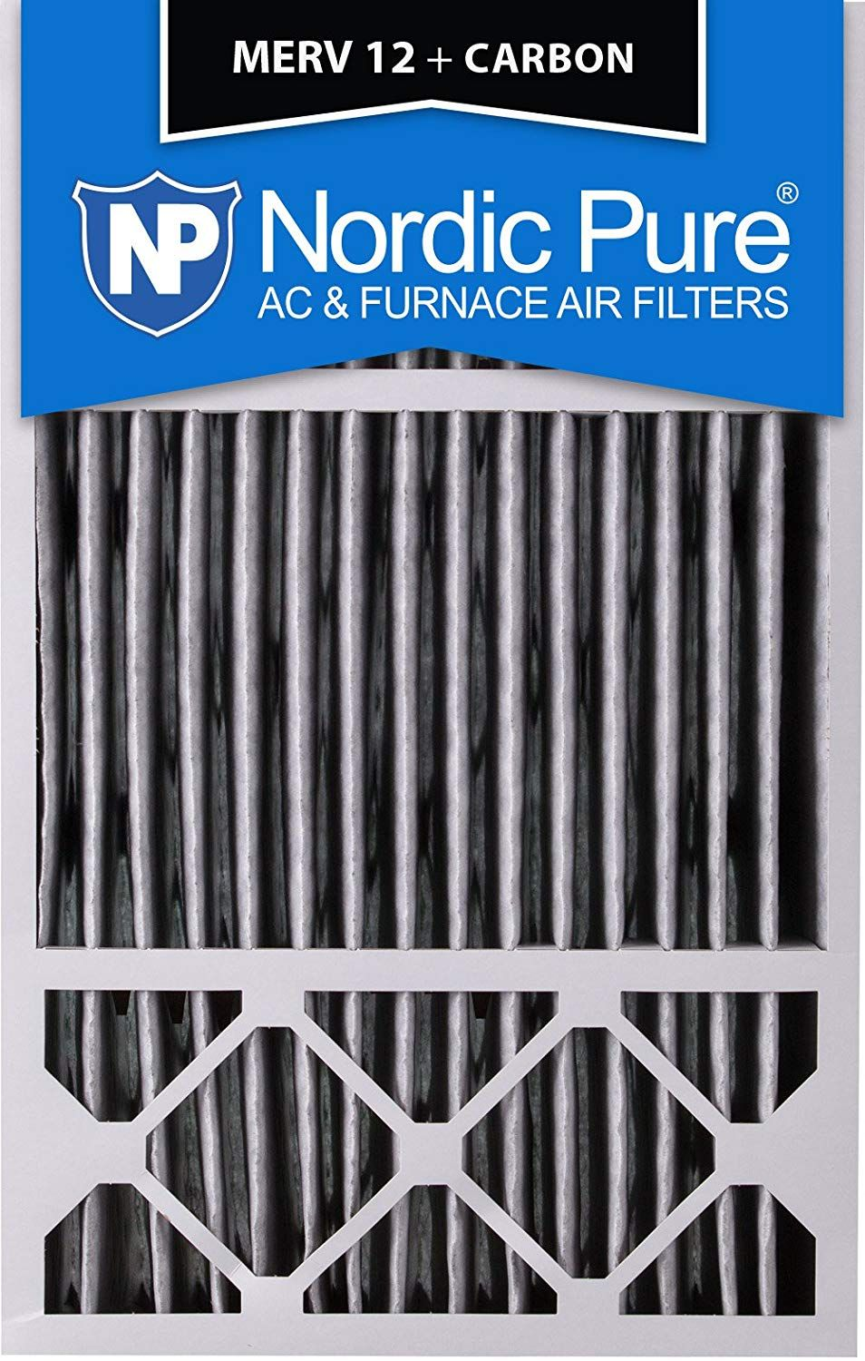 Nordic Pure 16x25x4 16x25x5 4 3 8 Actual Depth Merv 12 Pleated Plus Carbon Honeywell Fc100a1029 Replacement Ac Furnace Air Ac Furnace Carbon Air Filter Merv