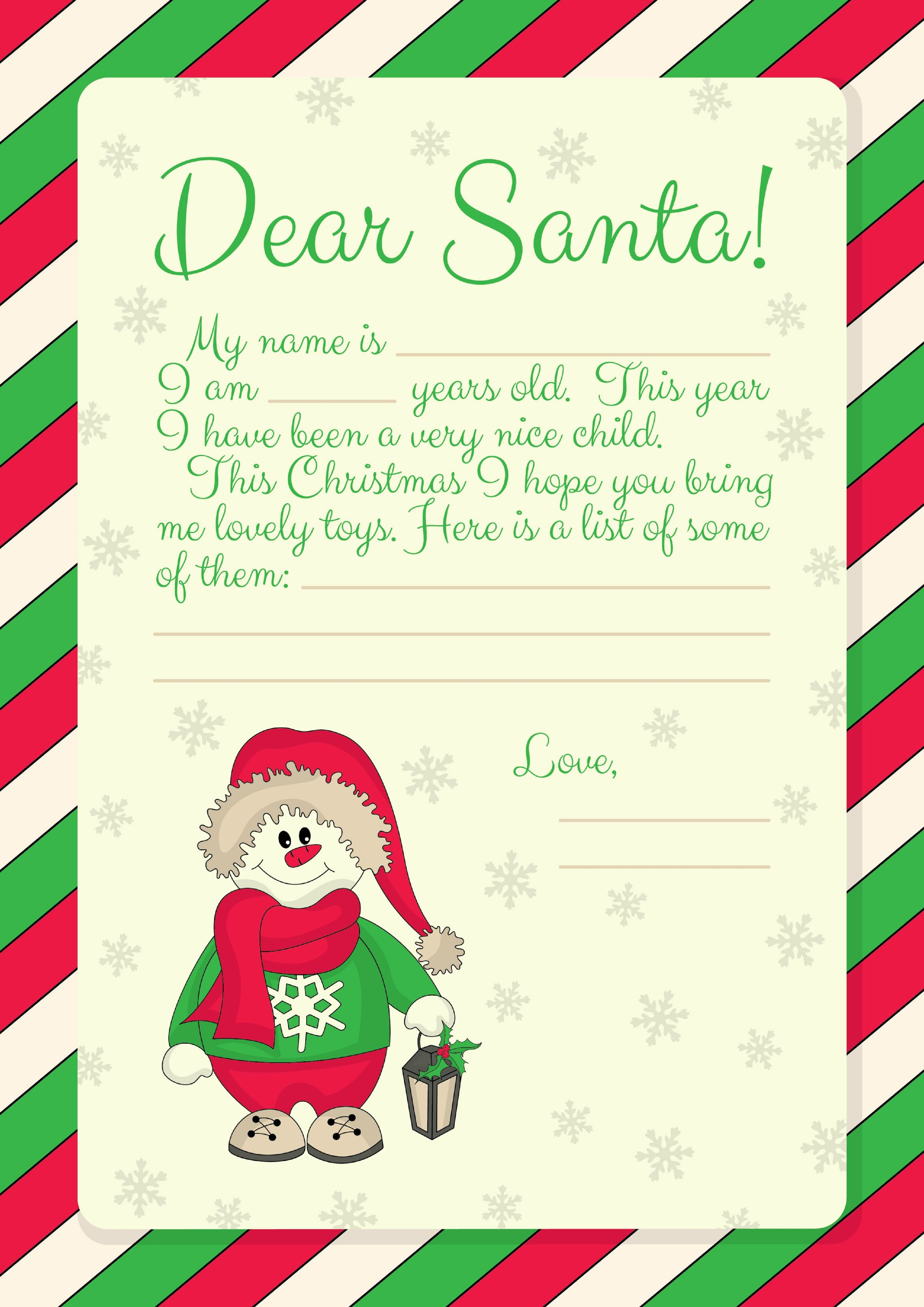 Free Printables} Letter to Santa templates and how to get a reply ...