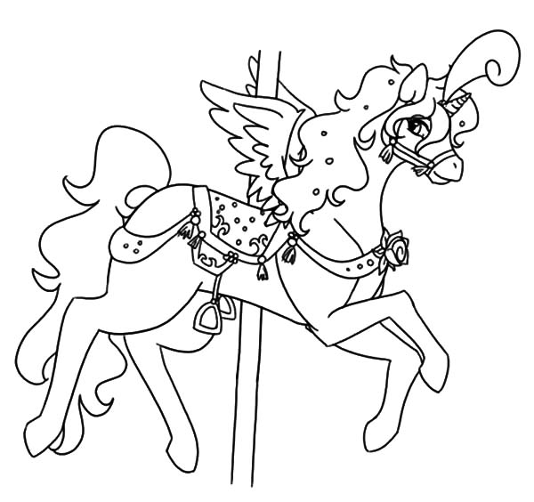 Fairy Carousel Horse Coloring Pages Best Place To Color Horse Coloring Pages Coloring Pages Horse Coloring
