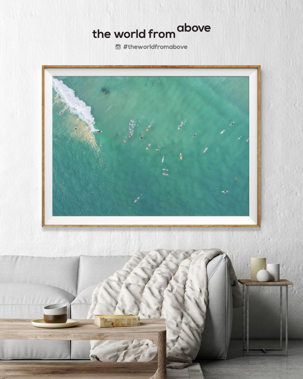 Gold coast aerial beach photography large wall art decor colour fine art photography art prints australia beach aqua surfers surf decor by