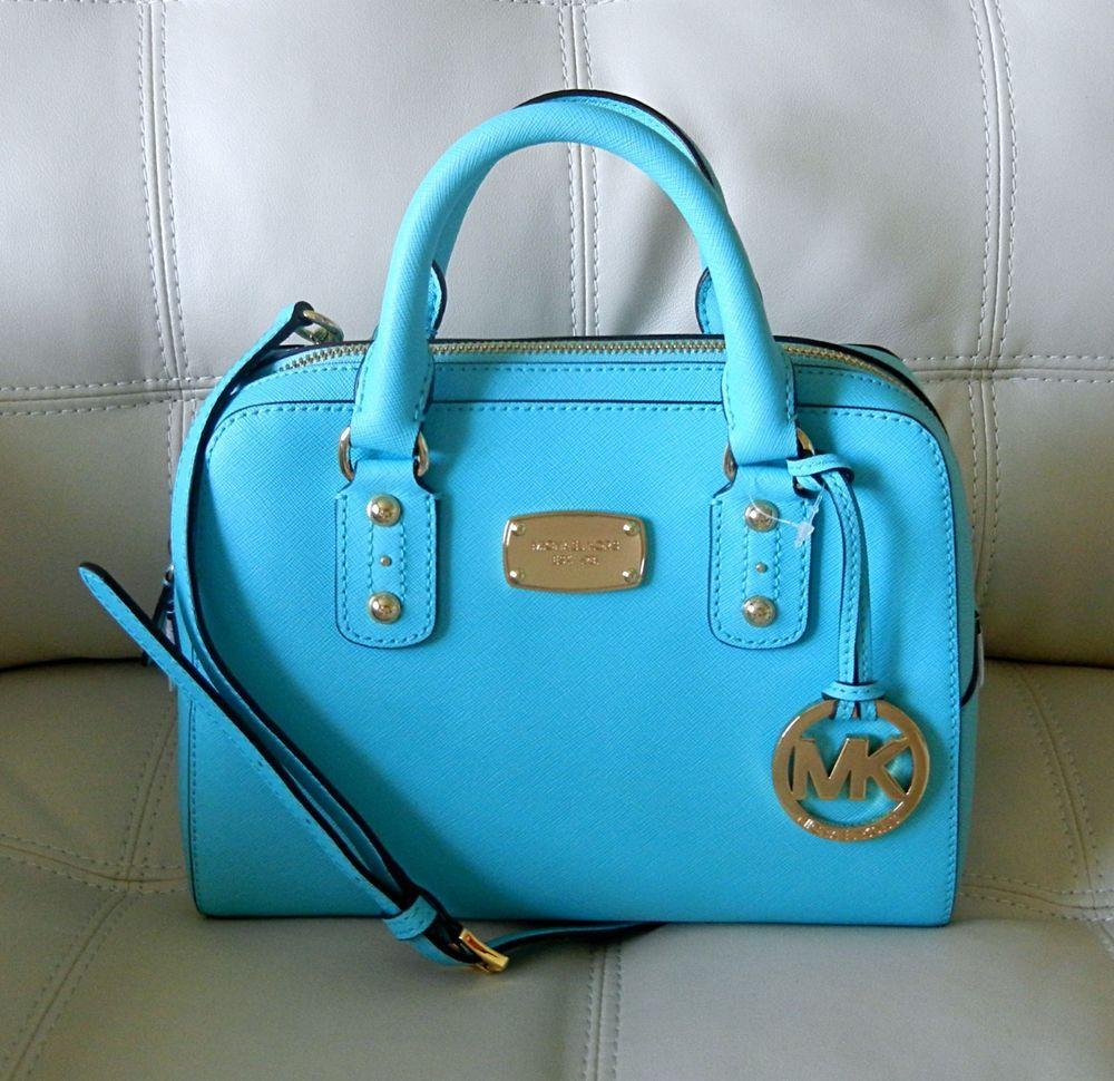 NWT Michael Kors Saffiano Leather Small Satchel Shoulder Handbag ...