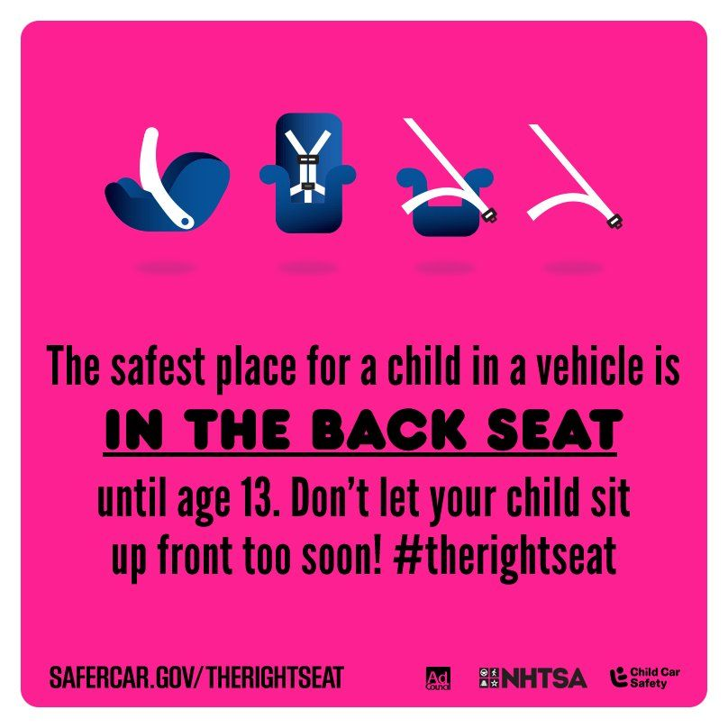 Safe Car Gov >> Don T Let Your Child Sit Up Front Too Soon Therightseat Cpsweek