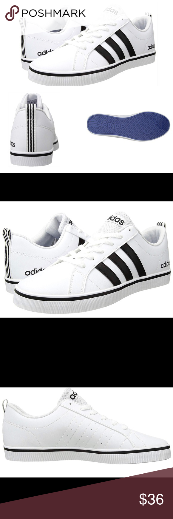 c72cd84f69 Adidas Men's Size 11 Fashion Sneaker White Black Adidas Originals Pace VS-M  Fashion Sneakers