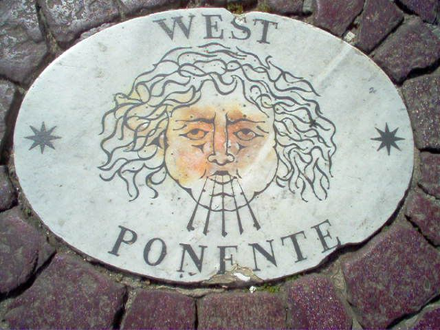West Ponente tile in the Wind Rose in Saint Peter's square (from Angels & Demons) AIR