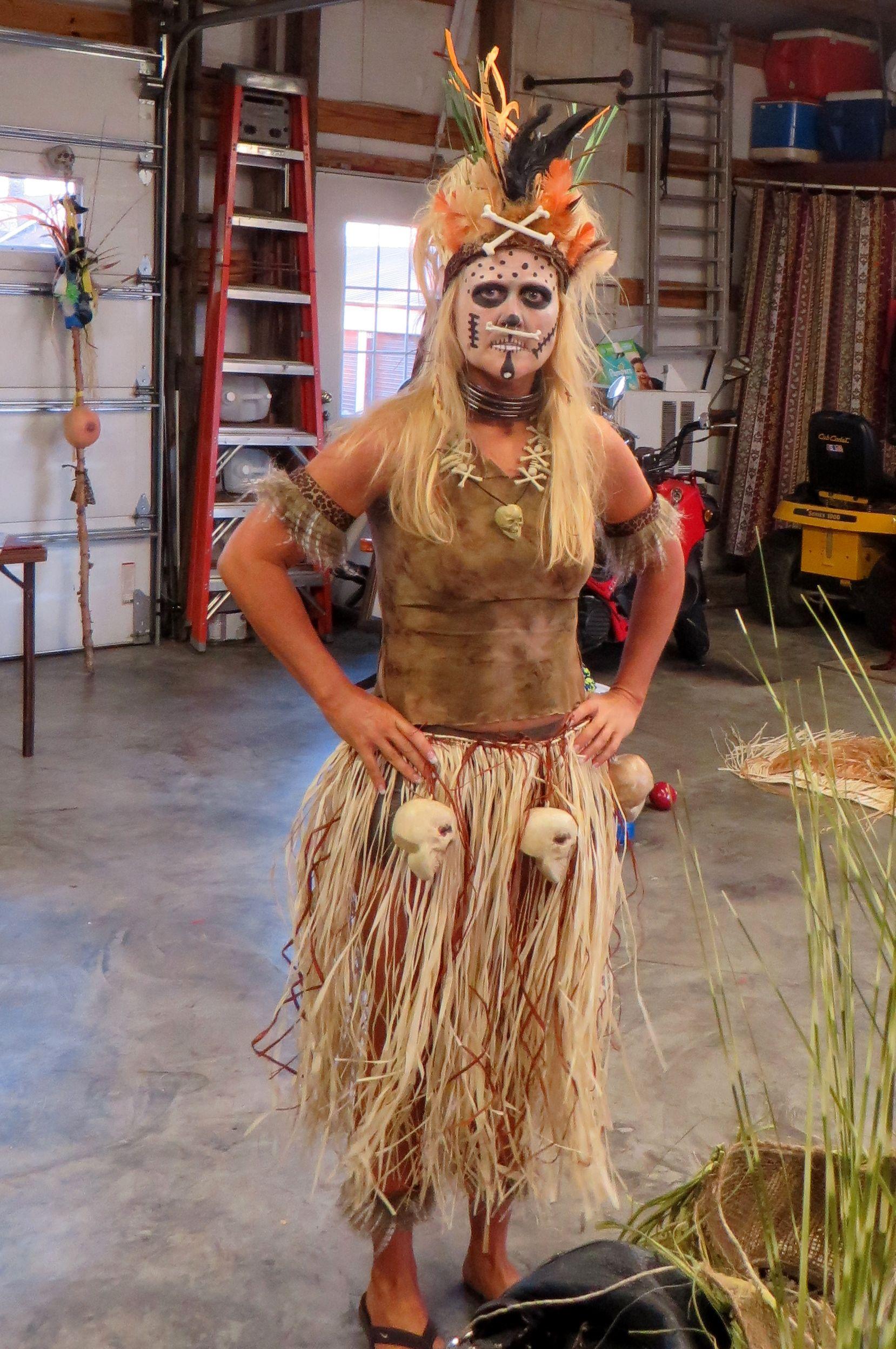 Most Creative Halloween Masks 2020 Tribal headhunter, Great Halloween costume idea.   Most creative