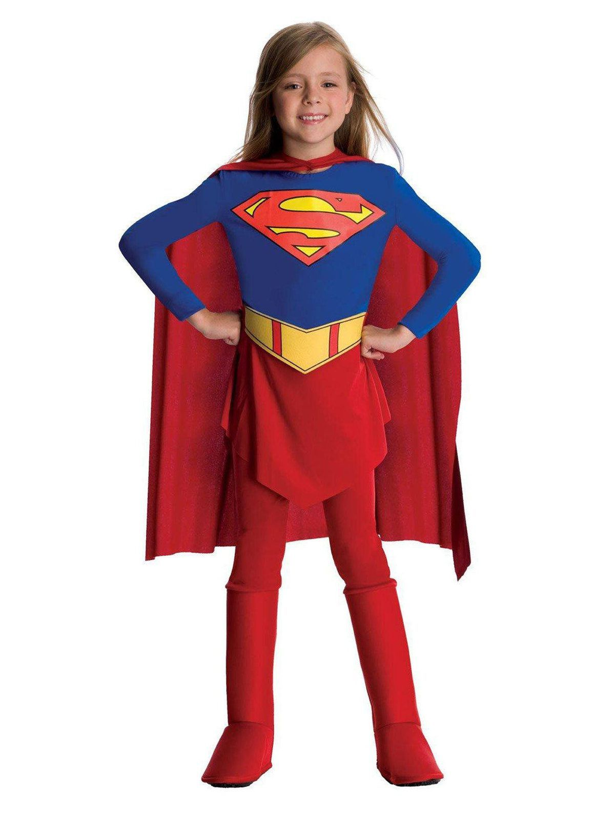 Girls Supergirl DC Comic Costume Superhero Kids Child Fancy Dress Outfit