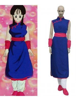Dragon Ball Z Chi Chi Blue Womens Cosplay Costume Goku Costume Halloween Anime Costumes Cosplay Costumes
