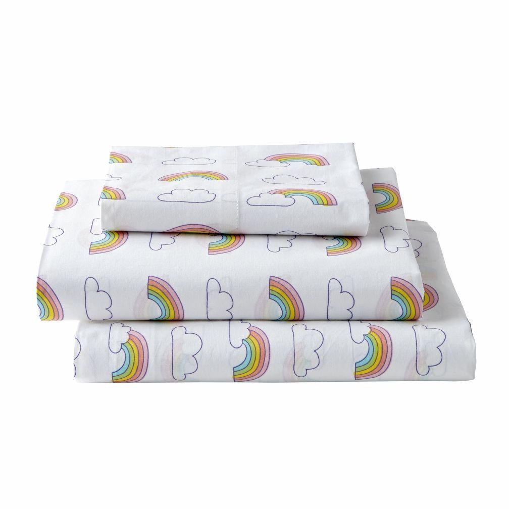 Organic Rainbow Twin Sheet Set Rainbow Sheets Rainbow Bedding