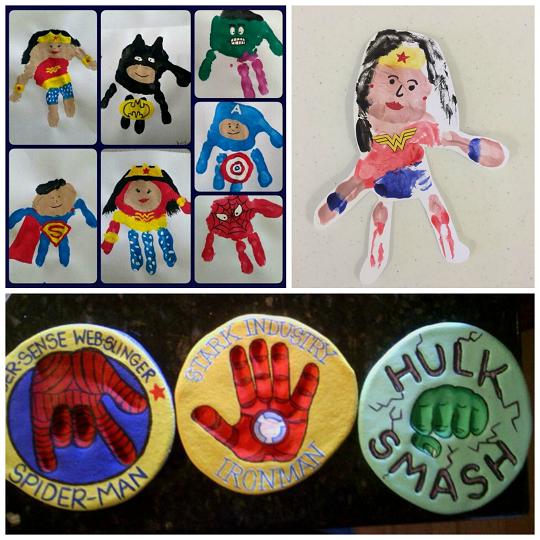amazing superhero handprint crafts for kids print