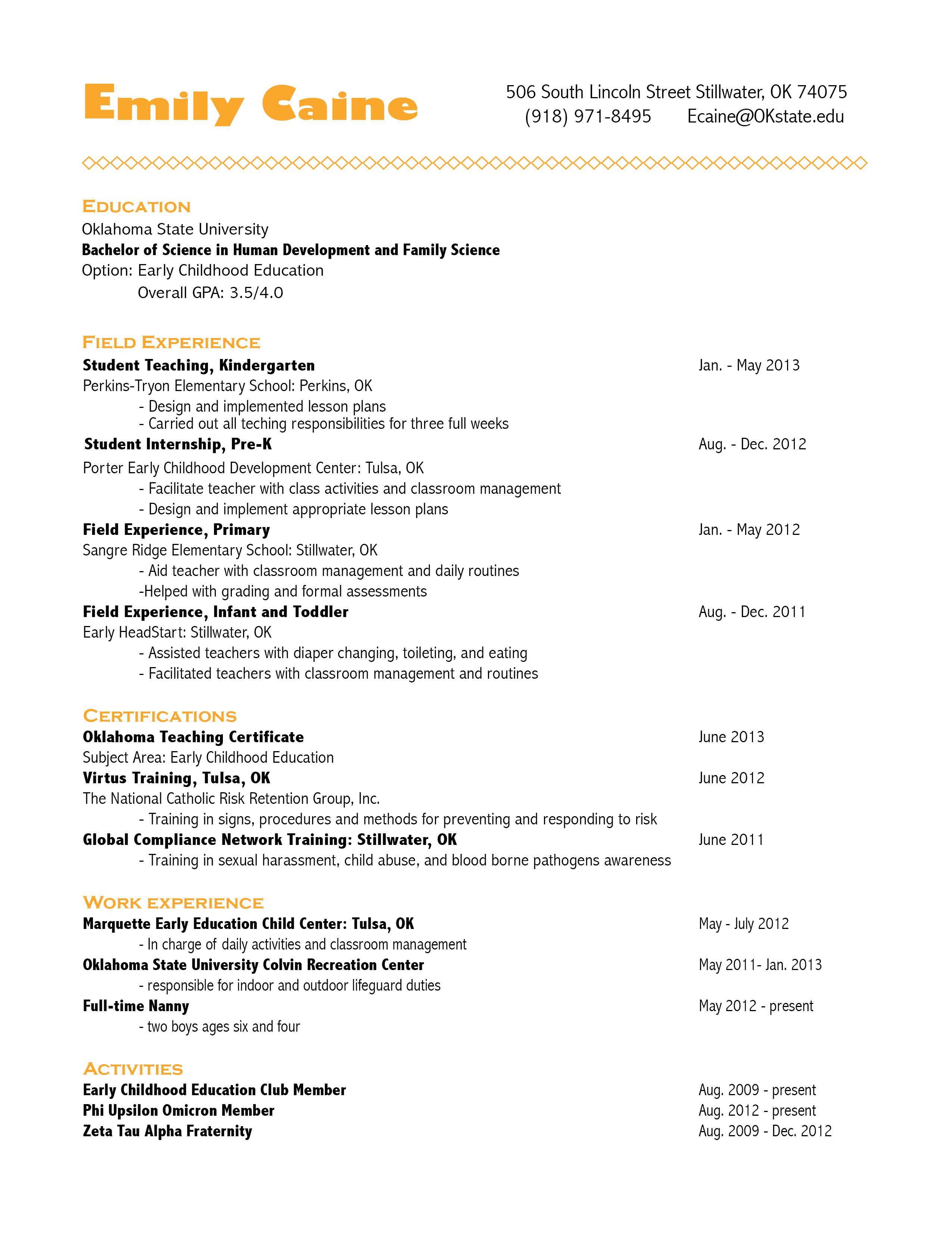 Visual Resume Resume Writing Services Visual Resume