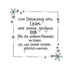 handgemachte Geburtstagskarte mit Blumenrand und Glitzer – zum Geburtstag alles … Handmade birthday card with flower border and glitter – for the birthday of love and always enough time for the beautiful moments in life that make us happy again and again