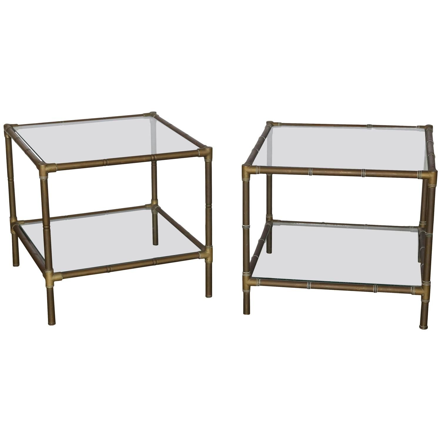 Mid-Century Modern Argentinian Pair Of Faux Bamboo Bronze