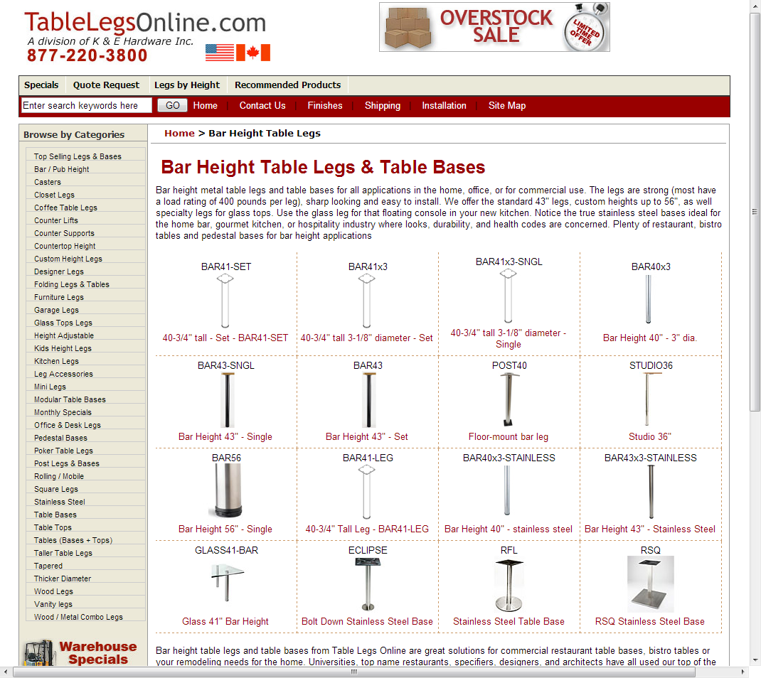 Superior Tablelegsonline.com   Bar Height Table Legs And Commercial Grade Table  Bases, Metal Table