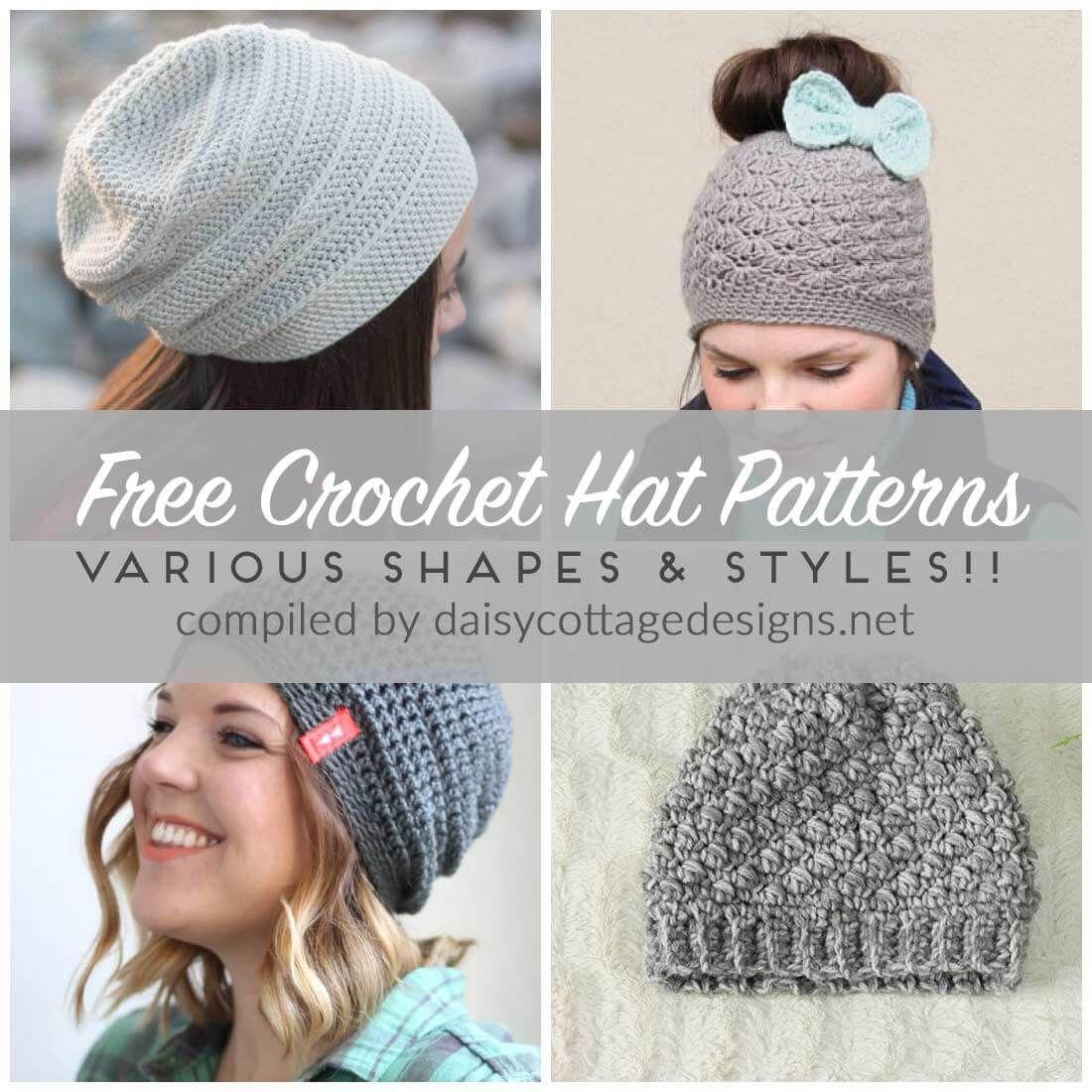 Free Crochet Hat Patterns | Häkeln