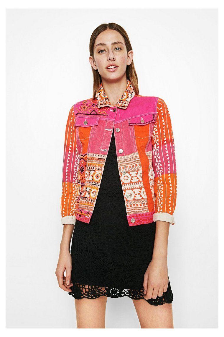 apariencia estética realmente cómodo selección especial de Cazadora vaquera rosa y naranja para mujer Circini ...
