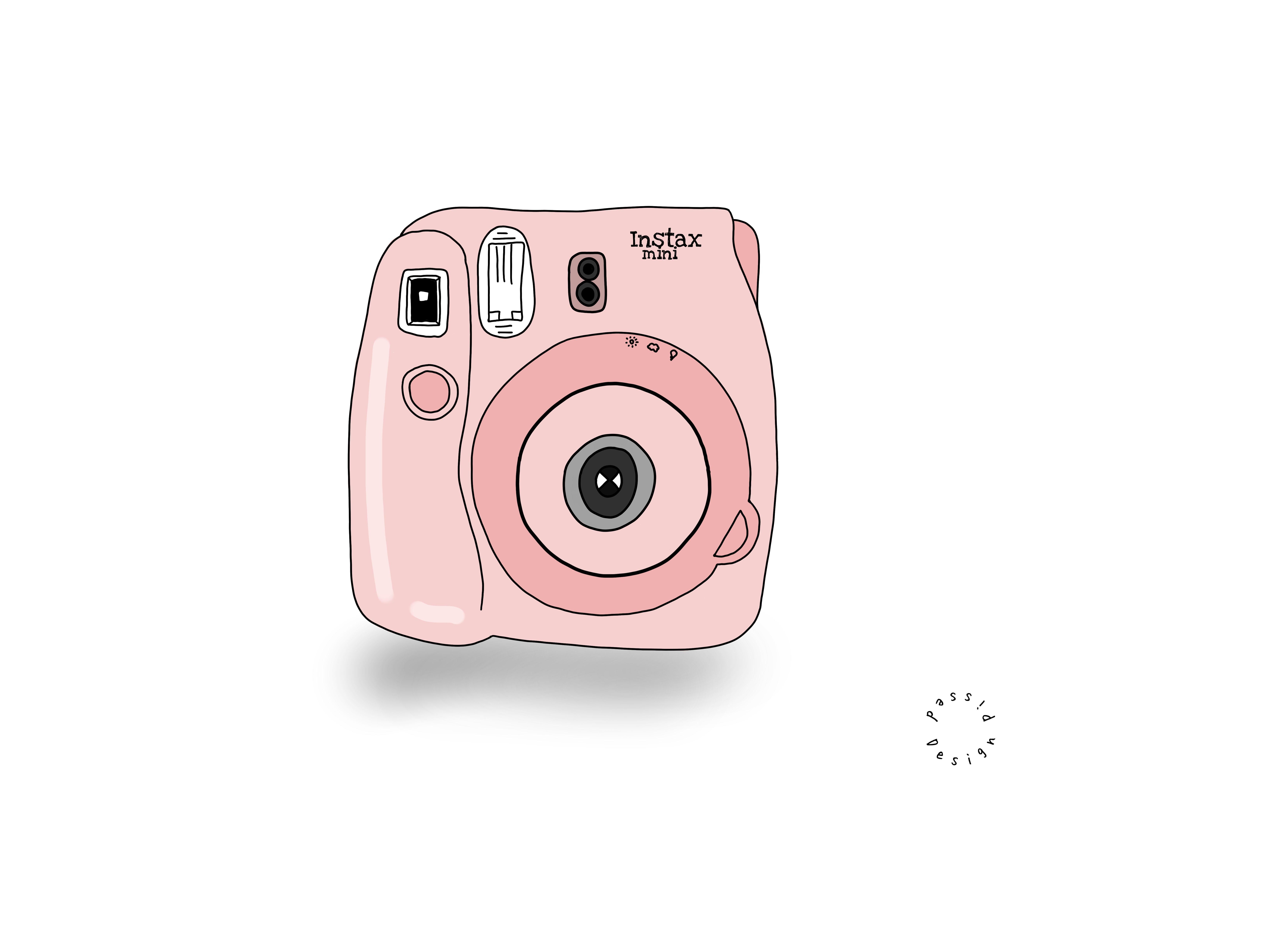 Aesthetic Pink Camera Photo