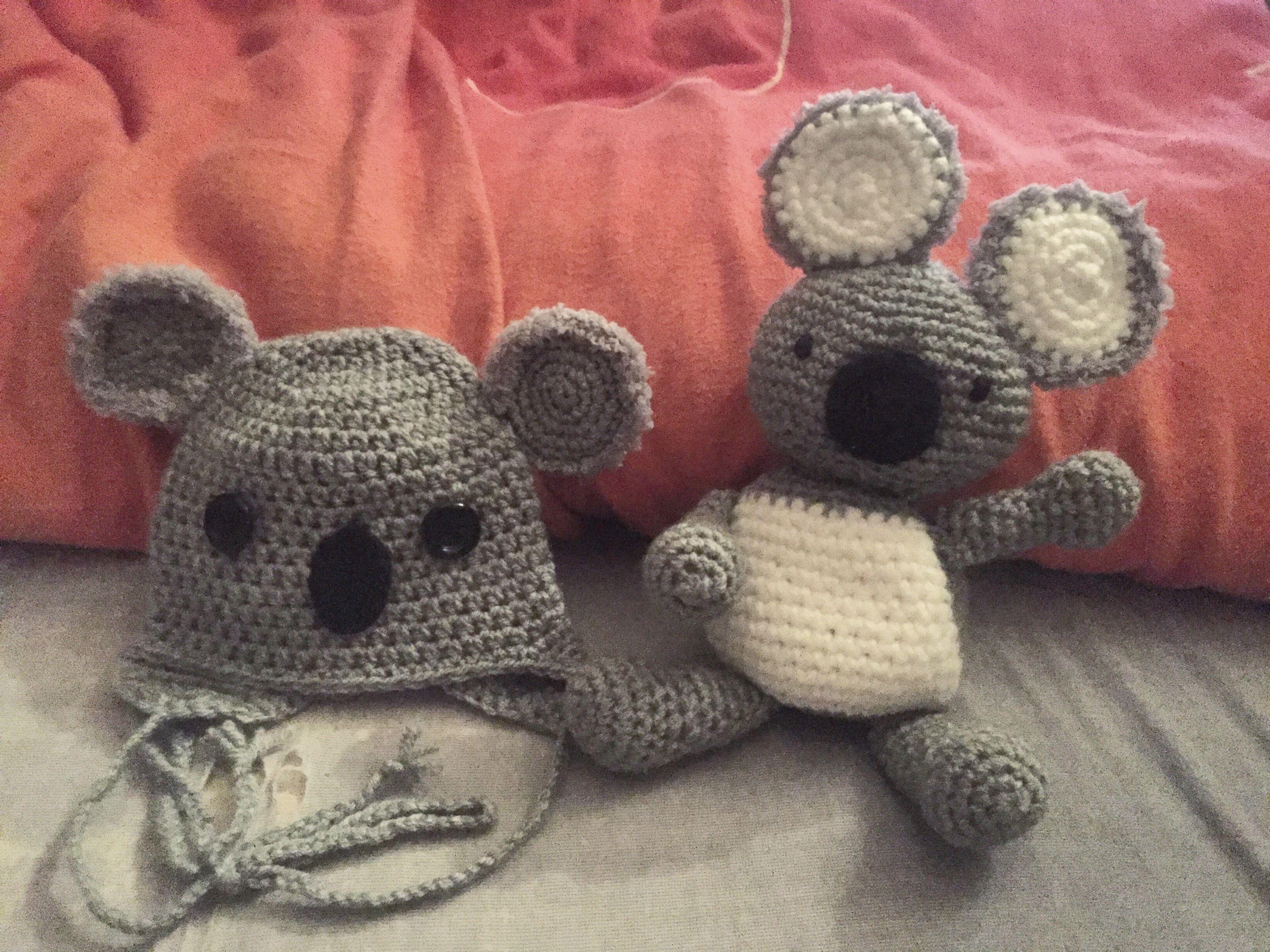 Koala häkeln amigurumi mütze Baby Crochet Principessacrocheta ...