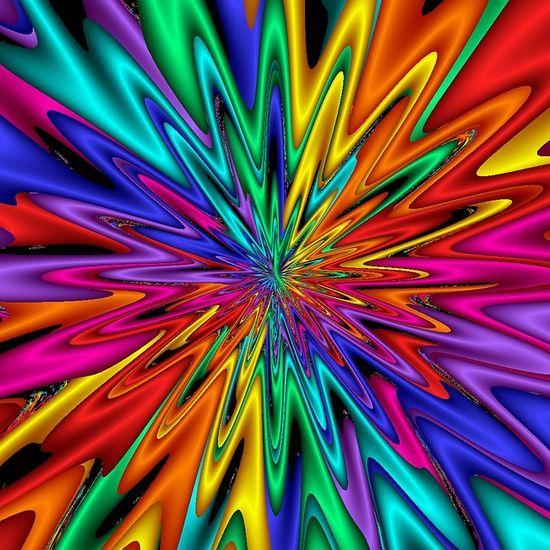 Rainbow Color Fractal De L Arc En Ciel Fractal Art