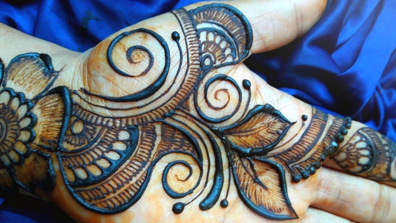 stylish arabic mehendi designs front