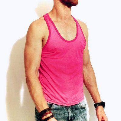 f2957e1bd Regata premium cor de rosa degradê cavada. Camiseta regata masculina  estilosa. No estilo Clube
