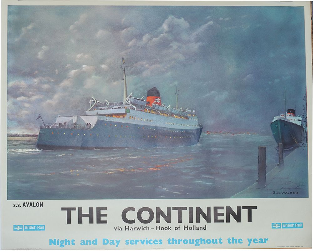 Vintage LNER Harwich For The Continent Railway Poster A3//A2//A1 Print