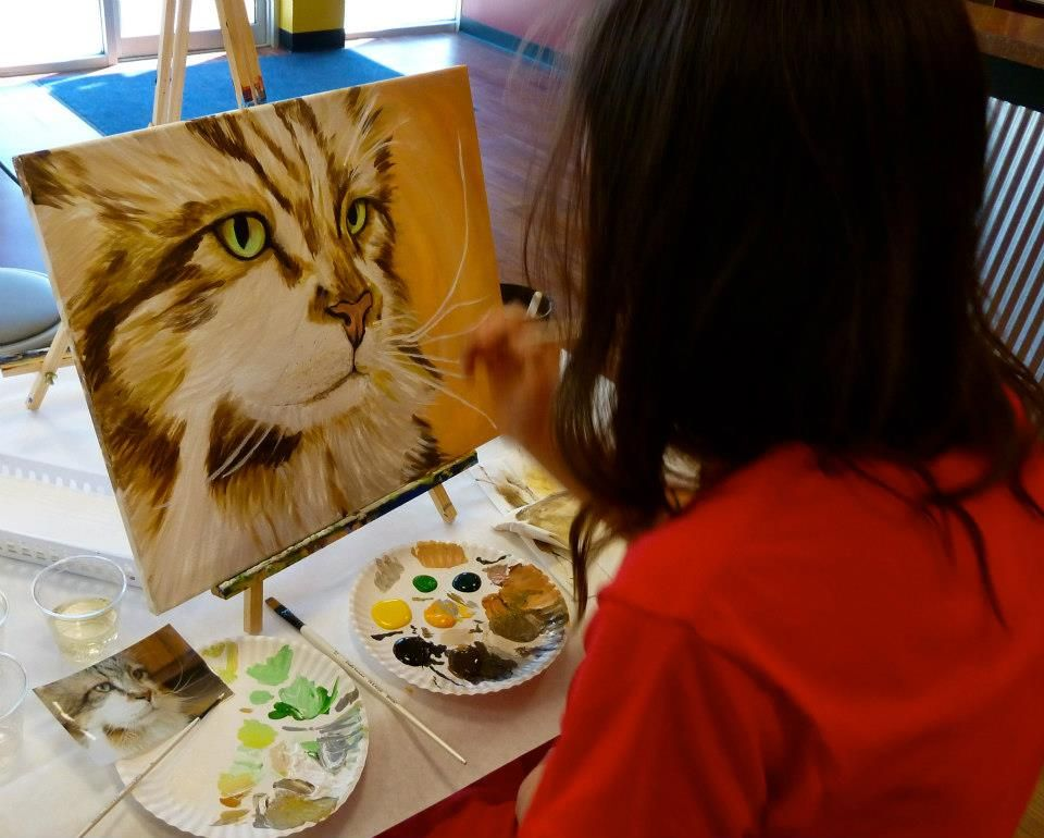 Paint Your Pet At Mason Oh Painting With A Twist Paint Your Pet Wine Painting Paint And Sip